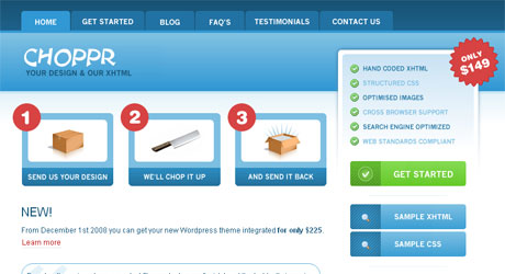 choppr 40 Beautiful PSD Slicing Websites
