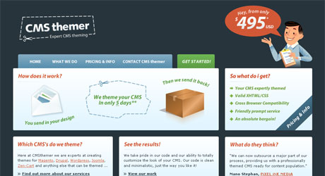 cmsthemer 40 Beautiful PSD Slicing Websites