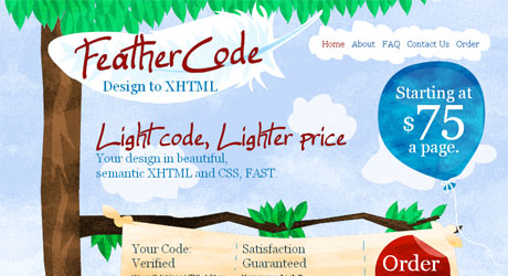 feathercode 40 Beautiful PSD Slicing Websites