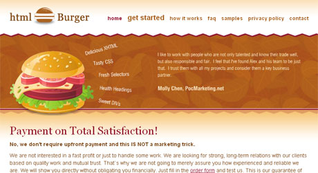 htmlburger 40 Beautiful PSD Slicing Websites