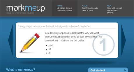 markmeup 40 Beautiful PSD Slicing Websites