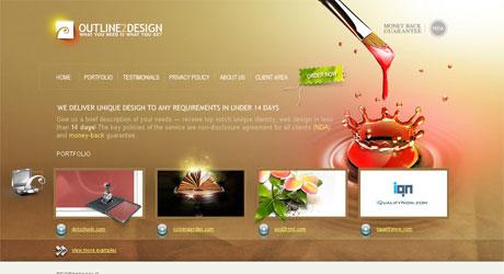 outline2design 40 Beautiful PSD Slicing Websites