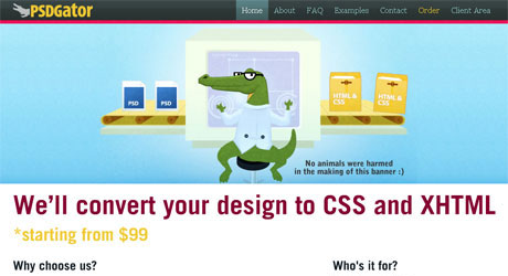 psdgator 40 Beautiful PSD Slicing Websites
