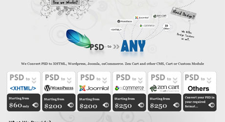 psdtoany 40 Beautiful PSD Slicing Websites