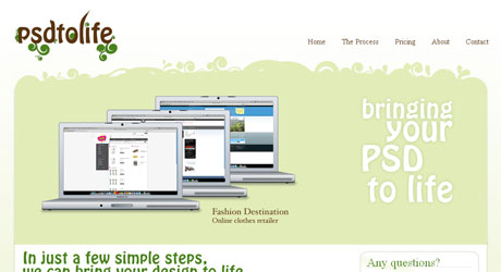 psdtolife 40 Beautiful PSD Slicing Websites