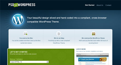 psdtowordpress 40 Beautiful PSD Slicing Websites