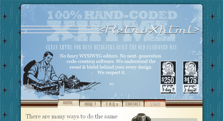 retroxhtml 40 Beautiful PSD Slicing Websites