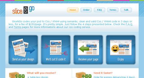 sliceandgo 40 Beautiful PSD Slicing Websites