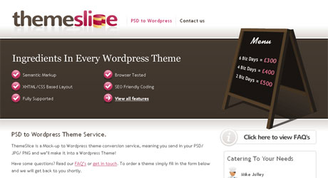 themeslice 40 Beautiful PSD Slicing Websites