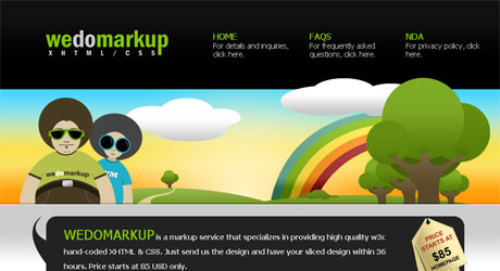 wedomarkup 40 Beautiful PSD Slicing Websites