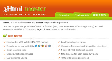 xhtmlmaster 40 Beautiful PSD Slicing Websites