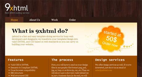 9xhtml 40 Beautiful PSD Slicing Websites