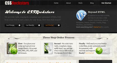 cssrockstars 40 Beautiful PSD Slicing Websites