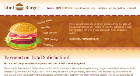 htmlburger 40 Beautiful PSD Slicing Websites
