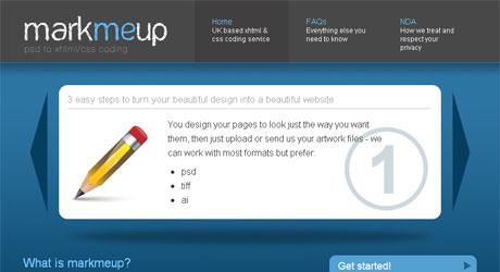 markmeup 40 Beautiful PSD Slicing Websites