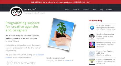 mediagirl 40 Beautiful PSD Slicing Websites