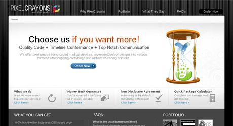 pixelcrayons 40 Beautiful PSD Slicing Websites