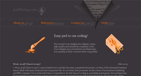 psdslicing 40 Beautiful PSD Slicing Websites