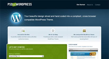 psdtowordpress 40 Beautiful PSD Slicing Websites