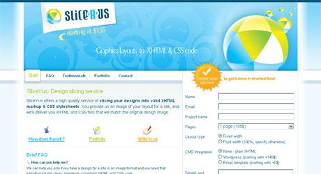 slicerus 40 Beautiful PSD Slicing Websites