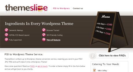 themeslice 40 Beautiful PSD Slicing Websites