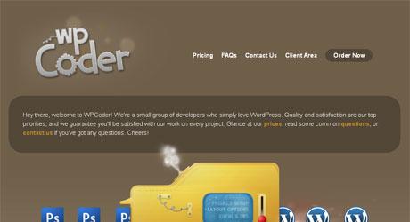 wpcoder 40 Beautiful PSD Slicing Websites