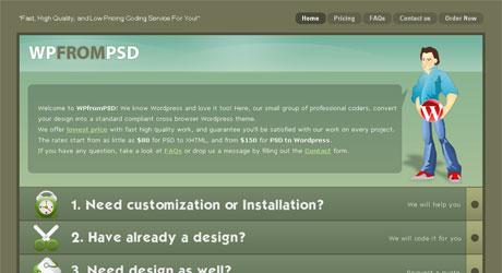 wpfrompsd 40 Beautiful PSD Slicing Websites