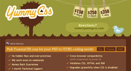yummycss 40 Beautiful PSD Slicing Websites